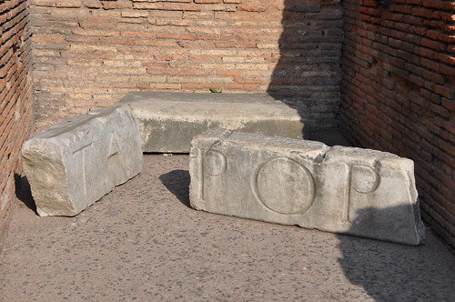 Marble remains in the Colosseum