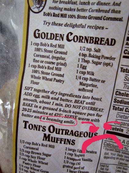 Corn Bread Instructions