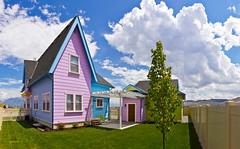 UP House Backyard (Photo Dean) Tags: usa house home utah ut backyard colorful patio herriman 2011 disneymovie saltlakecounty uphouse