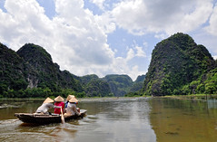 Halong Bay on Land (badzmanaois) Tags: rural boat vietnamese vietnam limestone karst tam coc gettyimagessingaporeq2