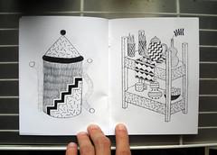 P + P spread 3 (randrenfrow) Tags: plants zine art pencil screenprint sale handmade drawings pots buy radical bound printed