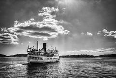 "Steamship ""Stockholm"" (jonasfj) Tags: blackandwhite bw water sunshine clouds stockholm 28mm handheld steamship steamer hdr vaxholm stockholmarchipelago 28mmf28ais d700 silverefex"