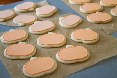 Decorated Pumpkin Cookies - 1