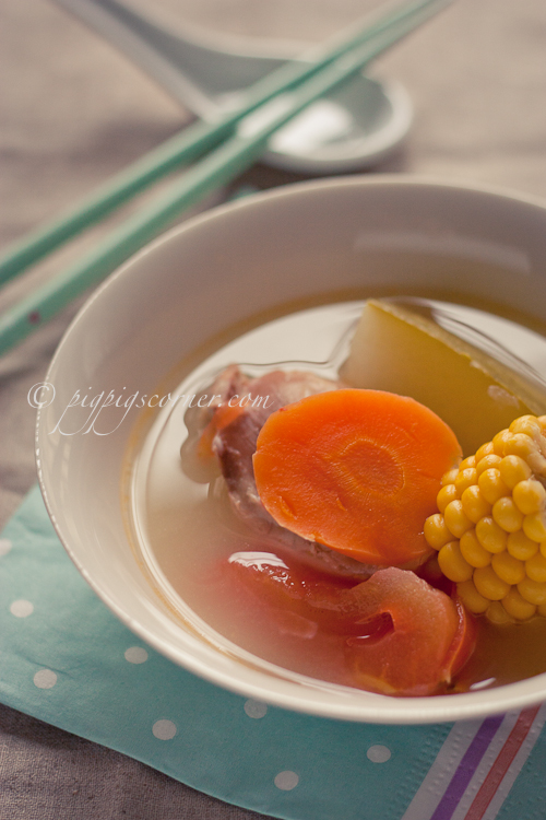 Winter Melon, Sweet Corn and Chicken Soup
