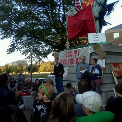 Michael McCarthy speaks to the Occupy Providence GA