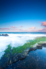 Angourie, New South Wales (James.McGregor) Tags: ocean longexposure sunset green beach moss afternoon vibrant australia nsw newsouthwales 1020mm byronbay angourie yamba sigmalens beautifulcolours canon550d