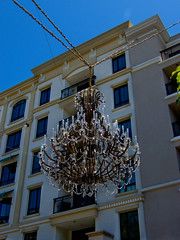 The Grand Ball Room in the City (lefeber) Tags: california city windows urban building architecture la losangeles glendale angles chandelier ropes angled theamericana