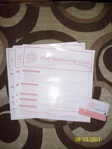 membership form and card
