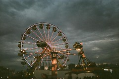 [217/365] hover crafts (brightsideftherd) Tags: sky people toronto film clouds movement grain cne rides 365 disposable ferriswheels theex project365 twohundredandseventeen