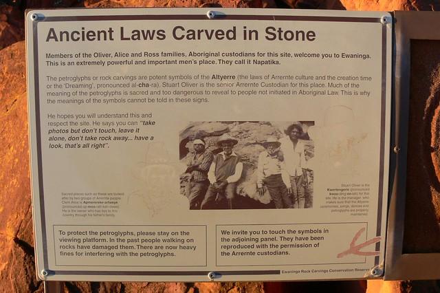 Ewaninga Aboriginal Rock Carvings - Northern Territory, Australian Outback