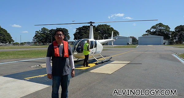 Me by the helicopter