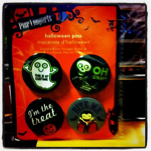 Halloween pins.