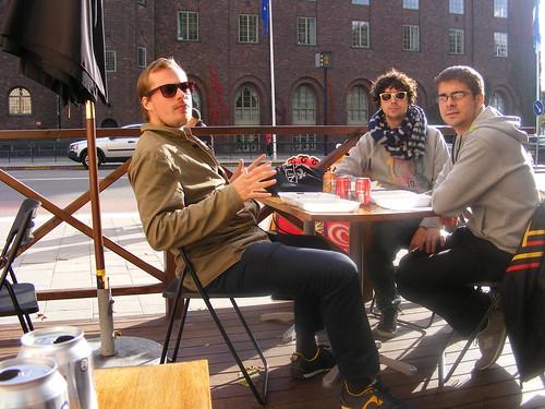 Los tres ex-erasmus de Joensuu, ahora en Estocolmo.