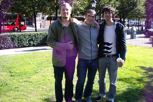 Bjarne, Miguel y yo en la soleada Estocolmo