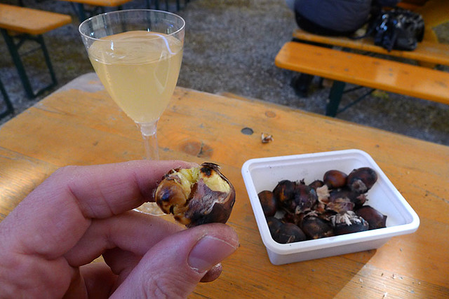 The end - roasted chestnuts with young and sweet Ribolla