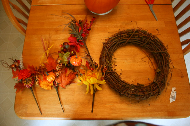 Makings of a Fall Wreath!