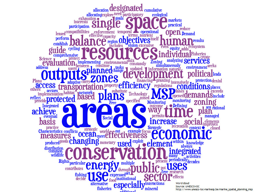 Maritime Spatial Planning definition: a word cloud