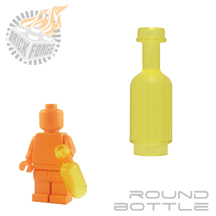 Round Bottle - Trans Yellow