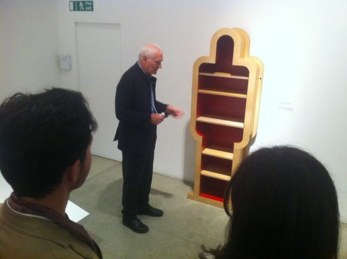 Kenneth Grange talking about his coffin bookshelves