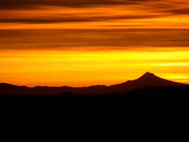 Sunrise in the Portland Office 10-26-2011