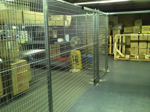 Gilt Restaurant NYC Security Cage for Dry Goods and Liquors by Gale's Industrial Supply