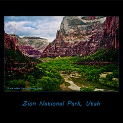 Zion National Park, Utah (tim, TimCooperPhotos.com) Tags: blue trees red sky green river nationalpark rocks flickr zionnationalpark timcooper
