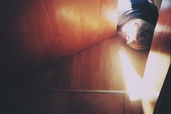 any time at all (Careless Edition) Tags: door light boy sun color film analog photography nikon floor room ground
