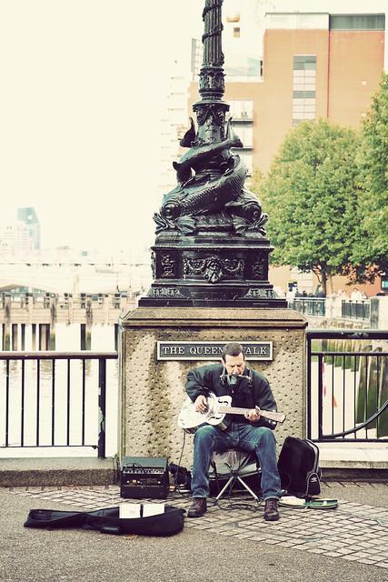 London. Street musician
