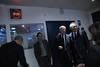François Bayrou et Olivier Mazerolle entre deux coupures publicitaires de lémission BFMTV 2012