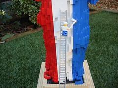 Lego Statue Of Liberty (Mrs Wobblehead) Tags: blue red white france america lego sightseeing icon flame statueofliberty 1886 3450 alexandregustaveiffel fredericaugustebertholdi