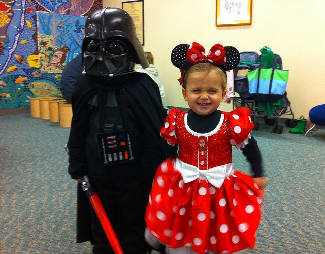 Darth Vader and Minnie Mouse