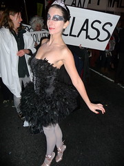 P1060665 (Randsom) Tags: nyc ballet newyork halloween costume ballerina cosplay manhattan parade blackswan villagevoice 2011 villagehalloweenparade