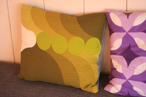 Retro fabric cushions