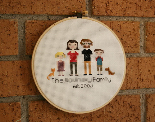 cross stitch family portrait 1