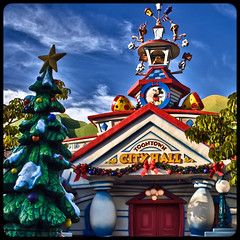 ToonTown City Hall (hbmike2000) Tags: christmas nikon cityhall disneyland christmastree disney resort mickeymouse d200 hdr toontown publicbuildings explored odc2 ourdailychallenge hbmike2000