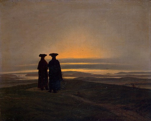 Caspar David Friedrich - Sunset Brothers [1830-35] by Gandalf's Gallery