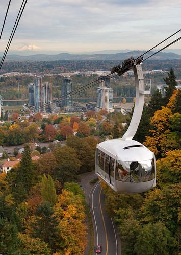 OHSU Tram and Mnt Hood (Portland)