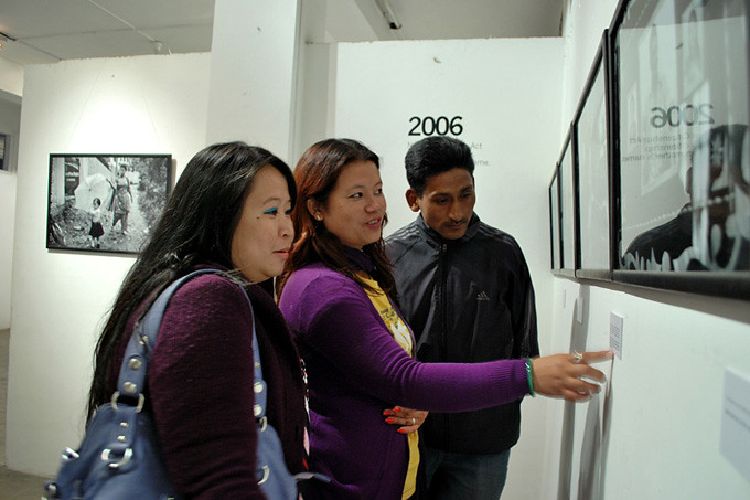 The OPENING: Laxmi Theeng visits her story. Photo: Uma Bista