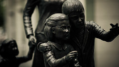"""The newly arrived immigrants - life size statues using the Rokinon 85mm f/1.4 lens on Micro Four Thirds • <a style=""""font-size:0.8em;"""" href=""""http://www.flickr.com/photos/44919156@N00/6328728218/"""" target=""""_blank"""">View on Flickr</a>"""