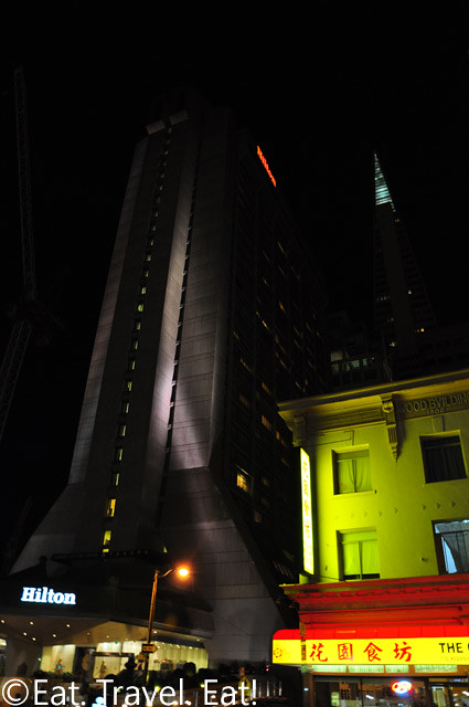 San Francisco, CA: Hilton at Night