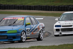 370 R14 Nissan Primera (Andrews) (southspeed) Tags: newzealand car racing nz southland motorsport drainage clubman teretonga mcintyre saloons sscc clubmans southlandsportscarclub noel clubman saloons