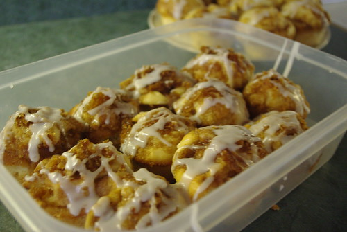 Flaming Cinnamon Bun Muffins by SashaWarner