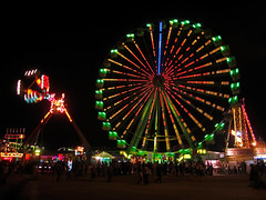 fairground (maximorgana) Tags: sky people black wheel moving nightshot fairground going ferris round cartagena attraction colorinchi