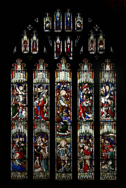 Justice - Hardman stained glass