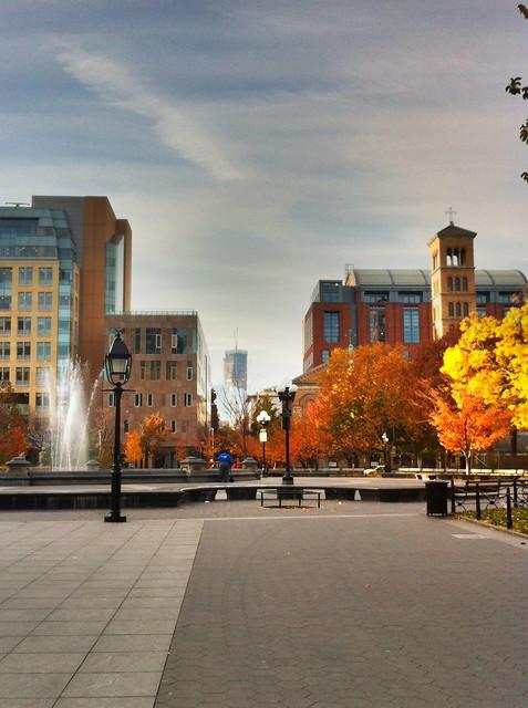 Washington Square Park, Sunday morning