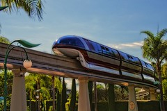 Monorail Monday Mark VII (Brett I Matthews) Tags: california disneyland sunny disney palmtree transportation monorail anaheim waltdisney downtowndisney monorailred d7000 nikond7000 concretenikon