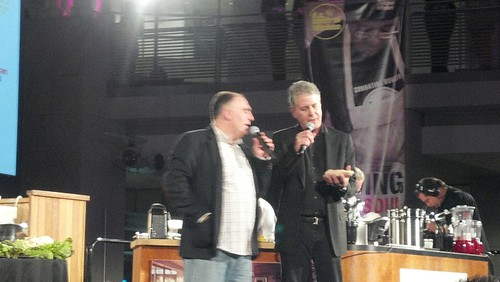 Jose Andres & Anthony Bourdain at Capital Food Fight 2011