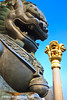 Mighty lions (Feng Wei Photography) Tags: china travel color statue architecture bronze religious ancient colorful asia power shanghai antique religion guard lion buddhism east aged oriental mighty powerful intimidating intimidate