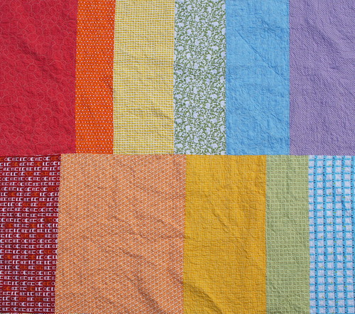 A Zig and A Zag - Quilt Back