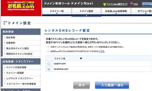 ドメインNavi DNS設定